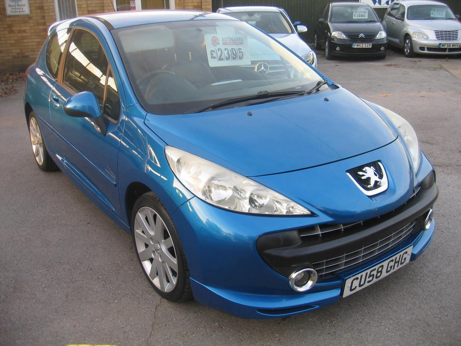 used 2008 peugeot 207 1.6 thp 150 sport xs, sporty hatchback 1.6